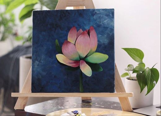 Picture of LiveStream Painting  Workshop: Lotus